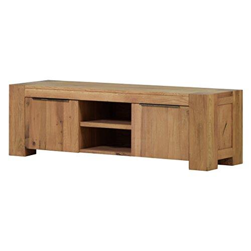 TV Lowboard Fernsehschrank Unterschrank Granby 160 cm, Massivholz Holz Eiche massiv Balkeneiche Natural, Breite 160 cm, Tiefe 48 cm, Höhe 50 cm