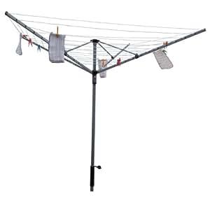 Marko stendibiancheria ad ombrello a 4 bracci rotante per ambienti esterni resistente - Stendibiancheria da giardino ad ombrello ...