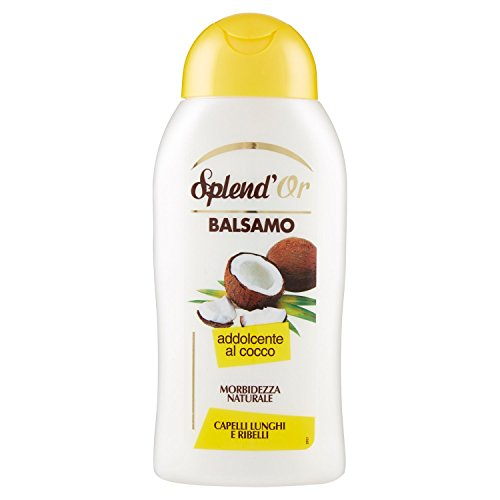 Splend'Or - Balsamo, Addolcente Al Cocco, Morbidezza Naturale, Per Capelli Lunghi E Ribelli -  300 Ml