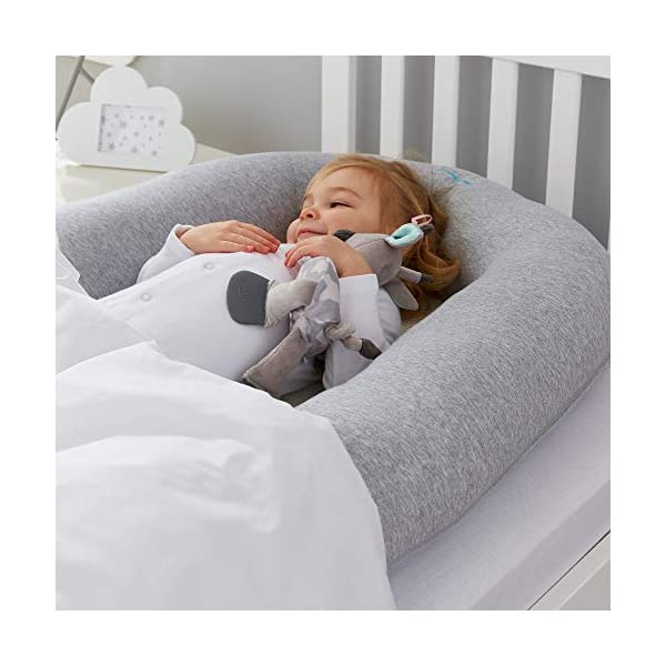 Purflo Breathable Maxi Nest Grey Marl - 6 to 36 Months PurFlo Use from 6 to 36 months as a multifunctional soft surface for quiet, mummy and rest time. Portable and lightweight; perfect for use home and away Hypoallergenic and anti-bacterial properties help reduce exposure to dust mites that aggravate allergies such as Asthma or Eczema. Waterproof inside base, protecting against leaks 6