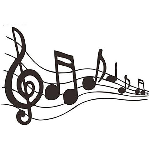 Music Note, Graffiti-Adesivo da parete rimovibile, in