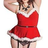 Damen Dessous Weihnachten Luckycat Weihnachtsmode Frauen Musselin Unterwäsche Gewürz Versuchung Minirock Nachtwäsche Unterwäsche Reizwäsche Dessous-Sets