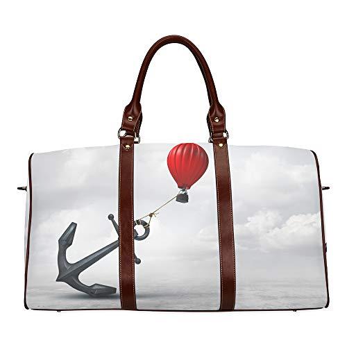 Reise-Seesack EIN seilumwickelter Anker wasserdichte Weekender-Tasche Reisetasche Damen Damen-Einkaufstasche Mit Mikrofaser-Leder-Gepäcktasche