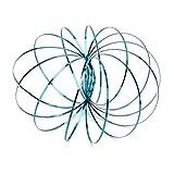 Xiton Anillo de Flujo cinético Juguete 3D del Resorte Spinner Anillo Brazo Mágico Slinky Rollo Anillo Multi sensorial Interactivo Pulsera de Primavera (Azul)