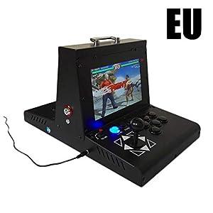 Pandoras Box Arcade Consol 7 – Tragbare 3D Mini 10″Dual Screen Arcade Videospielkonsole Retro Videospiele Arcade-Spiel 1080p Full HD LCD 2177 Spiele N64 PS1