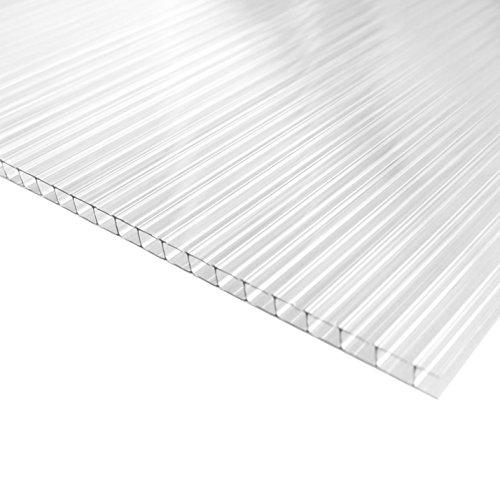 Placa/Panel de Policarbonato Alveolar Traslúcido, 8 mm de grosor, 228 x 75 cm