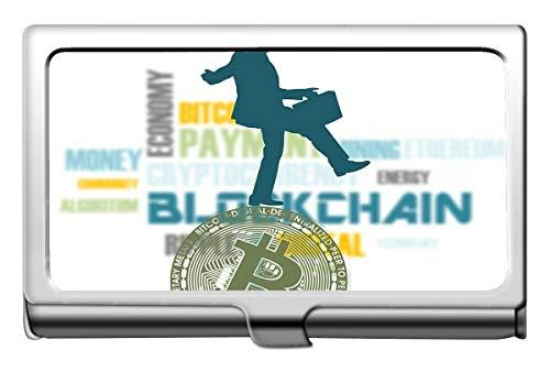 Business Name Kartenhalter, Geld Bitcoin Banknote Name Card Case