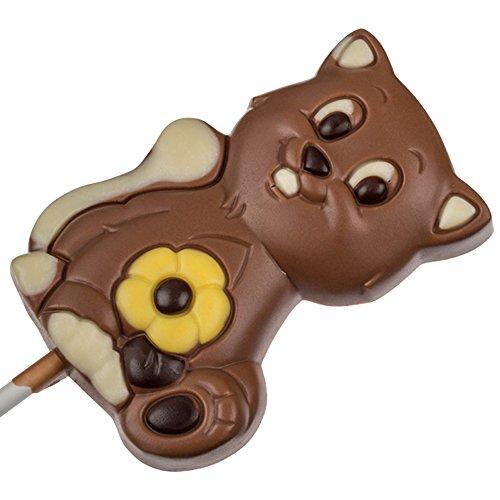 Sucette en chocolat - en forme de chat - 35 g