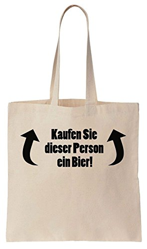Kaufen Sie Dieser Person Ein Bier! Zwei Pfeile Tote Bag Baumwoll Segeltuch Einkaufstasche (Bier-pfeil)