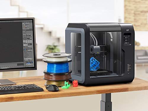 Monoprice Voxel 3D-Drucker - Schwarz/Grau mit abnehmbarer, beheizter Bauplatte (150 x 150 mm) Vollständig geschlossen, Touchscreen, unterstütztes Niveau, einfaches WLAN, 8 GB interner Speicher - 7
