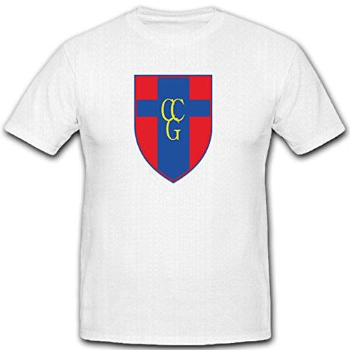 Control Command Germany - Schulter Abzeichen Wappen Emblem - T Shirt #9098, Größe:Herren 5XL, Farbe:Weiß