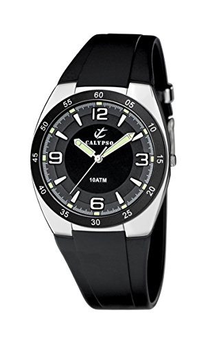 Calypso 6044/2 - Reloj de caballero de cuarzo, correa de goma color negro