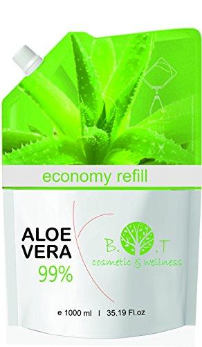 99% natürliches Aloe Vera Gel 1000 ml Nachfüllung