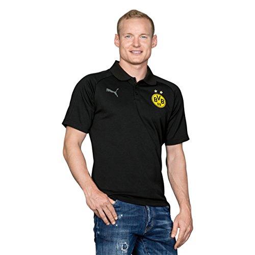 Puma Herren Bvb Casual Without Sponsor Logo Polo Schwarz