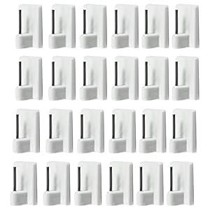 com-four® 12x Selbstklebende Gardinenhaken für Vitragestangen im Sparpack (12 Stück)