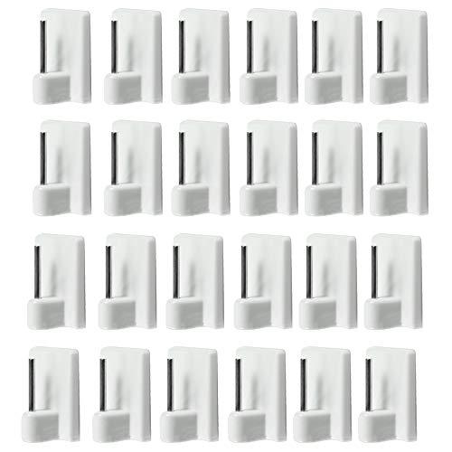 com-four® 12 Crochets pour Rideaux autoadhésifs pour vitragestangen dans Le Paquet économique (12 pièces)