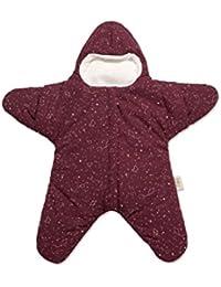 Baby Bites ORIGINAL - Saco estrella BURDEOS, estampado CONSTELACIONES - Modelo INVIERNO