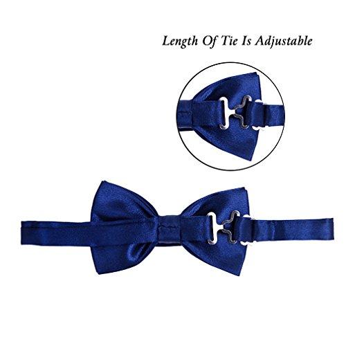 HBF 1 Conjunto Tirantes Y Pajaritas Unisex Elástica Ajustable X-Forma 4 Clips Ancho 2.5 Cm Para Hombre Y Mujer (Azul marino)