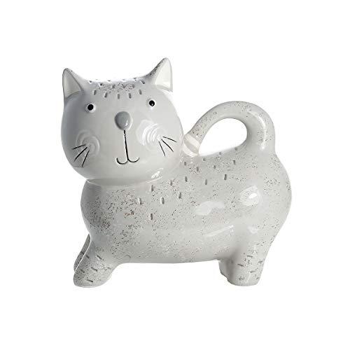SPOTTED DOG GIFT COMPANY Süß Katze Spardose Sparbüchsen Piggy Bank Grau Keramik, Katze Geschenk für Mädchen Jungen -