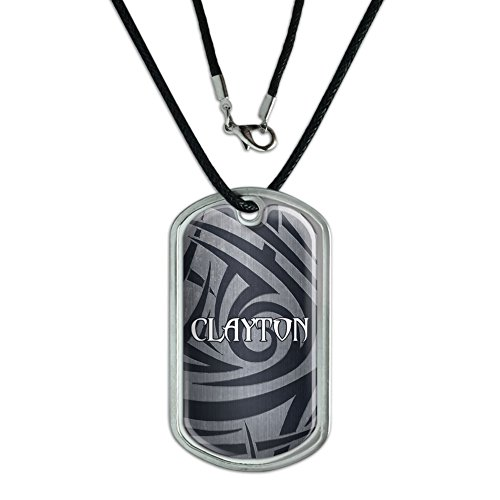 dog-tag-pendant-necklace-cord-names-male-cay-cl-clayton