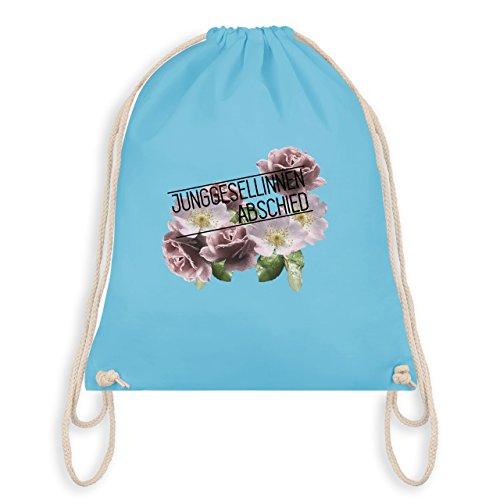 JGA Junggesellinnenabschied - Blumen Junggesellinnenabschied - Turnbeutel I Gym Bag Hellblau