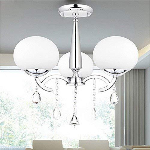 Elegante 3-licht (ALFRED® Elegante Moderne Kristall 3-Licht Kronleuchter Modern Home Leuchte Decke für Montage von Pendelleuchte Kronleuchter Beleuchtung)