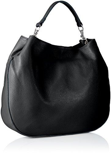 Bags4Less Damen Dunya Umhängetasche, 14x33x41 cm Schwarz (Schwarz)