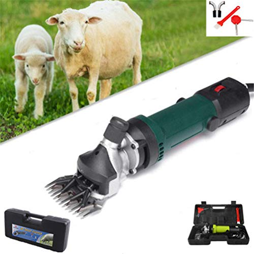 Yeying123 Elektrische Schafschur Ziegen Set 690 Watt 6 Geschwindigkeit 13 Zähne Für Bauernhof Ziegen Alpaka Lamas Angora Kaninchen Kamele Pferd Pet Clipper Cutter Hundesalon liefert,Green -
