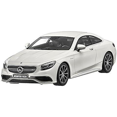 Mercedes Benz S 63 Coupé diseño blanco diamante bright, GT Spirit, 1:18