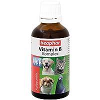 Vitamin-B-Komplex | B-Vitamine für Hunde, Katzen, Nager, Vögel | Zur Fellpflege von Haus-Tieren | Für ein gutes Wohlbefinden | Vitamin-Tropfen 50 ml