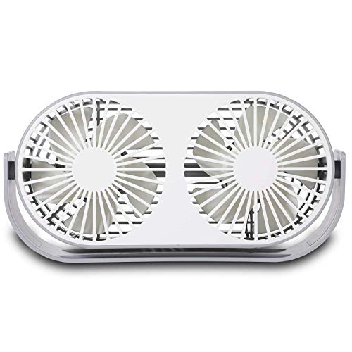 YUELAI Mini-USB-Tischventilator,3 Geschwindigkeiten 10 Lüfterblätter,Zwei Betriebsarten Mit Aromatherapie-Box Box NUR Mit USB-Stromversorgung, Perfekter Ventilator Für Büro Und Zuhause -