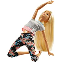 Barbie Fashionista Made to Move, muñeca articulada rubia con top gris (Mattel FTG81)