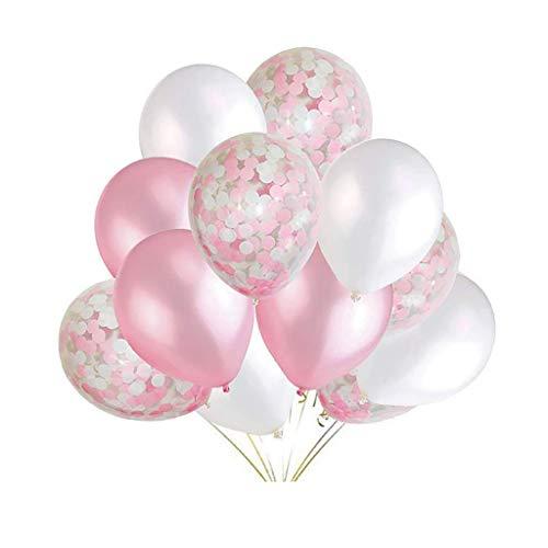 R-Cors Jahrestag Dekorationen Geburtstag Banner Dekoration Party Ballons PapierblumenBallon Latex Ballons Halloween, Weihnachten, Geburtstagsfeiern, Party, Hochzeitsfeiern usw. (Rosa)