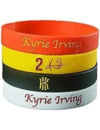 FANwenfeng NBA Baloncesto Kyrie Irving Pulsera de Silicona de la Firma Estudiante Sport Wristband (Negro