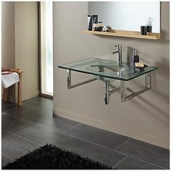 Plan vasque simple en verre design