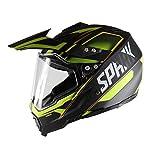 JOJO Motocycle Helme Mountainbike-Helm Harley Helm Vier Jahreszeiten Straßenrennen Dual-Use-Objektiv Cross-Country-Helm (Gelb),L
