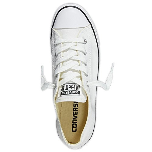 Converse Womens CT All Star Dainty Low Top Canvas Trainers Blanc (Blanc/Rouge)