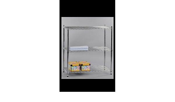 Mendler Badezimmer-Eckregal Badregal Regal, weiß, 80x30x30cm weiß