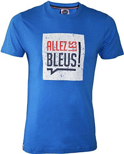 Allez Les Bleus Gehen Sie die Blauen Shirt Frankreich–Offizielle Kollektion–Größe Herren XX-Large blau