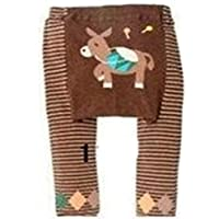 Busha Baby Toddler Unisex Leggings with Adorable Striped and Animal Design Donkey Size M 12-24 Months