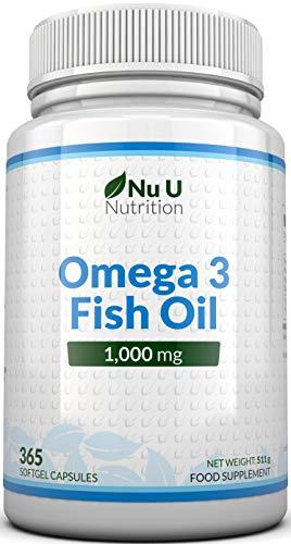 Omega 3 | Aceite de Pescado | 1000 mg | 365 Cápsulas (Suministro Anual) | Complemento...