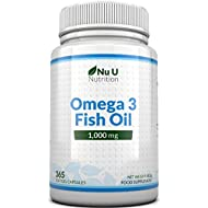 Omega 3 Fish Oil 1000mg 365 Softgels 1 Year Supply | Pure Fish Oil with Balanced EPA & DHA | Contaminant Free with Omega 3 | Made in The UK