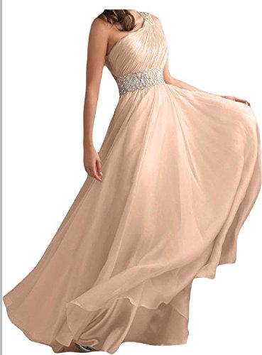 Toscane generic parure pour femme au design moderne-épaule un chiffon abendkleider promkleider forme de boule longueur :  party Rose - Beige Rosa