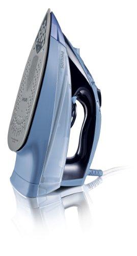 Philips Azur GC4865/02   Plancha de vapor  potencia 2400 W  45 g/min  golpe de vapor 200 g  suela SteamGlide  color azul y azul oscuro
