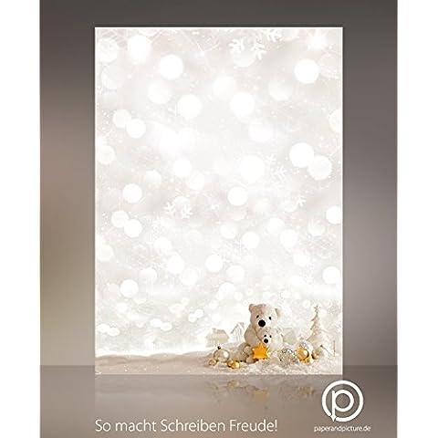 Carta da lettere natalizia Natale orsetti, 20fogli,