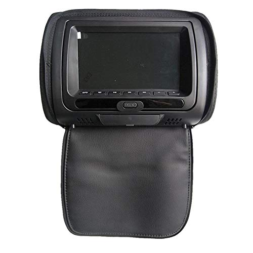 """Ljourney KFZ Kopfstütze DVD - Auto Kopfstütze Monitor DVD HD Display 7""""DVD MP5 USB LCD Bildschirm Auto Kissen Kopfstütze Monitor"""