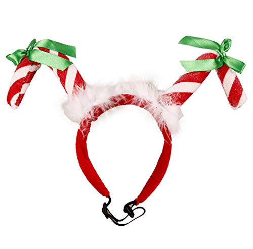 Legendog Weihnachten Haustier Stirnband Fashion Cute Candy Cane Decor Haustier Kostüm Hund Stirnband (Candy Hunde Kostüm)