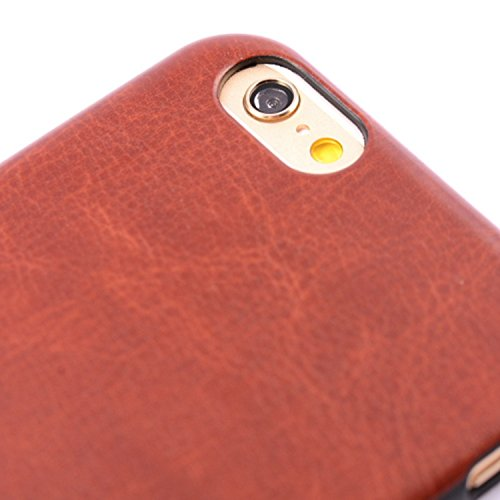iPhone Case Cover style de cuir coloré modèle souple faux cas TPU + PC 2 en 1 matière cas de couverture de peau pour iPhone 6 Plus / 6S plus ( PATTERN : Brown , Size : IPhone 6S Plus ) Red