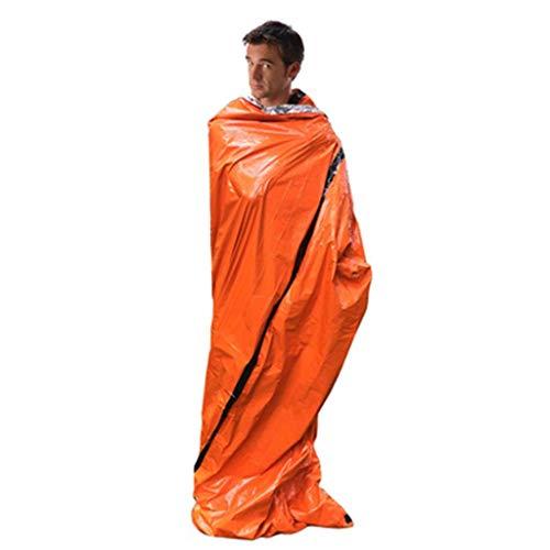 EUCoo Zeltisolationsfeuchtigkeitsauflagennotschlafsack Des Erste-Hilfe-Zeltes Des Kampierenden Schlafsacks(Orange)