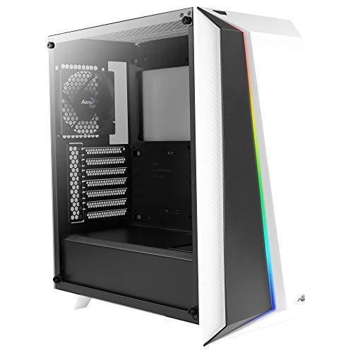 Aerocool Cylon PRO - ATX RGB PC-Gehäuse, Hartglas, 12 cm Lüfter, weiß -
